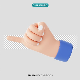 3d ikona gestu pinky obietnicy