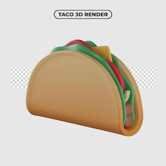 3d ikona ilustracja kreskówka taco