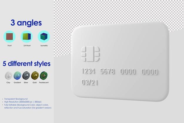 3d ikona karty kredytowej