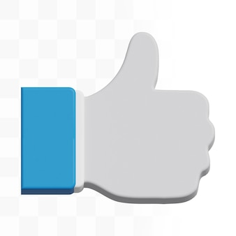 3d ikona kciuka w górę