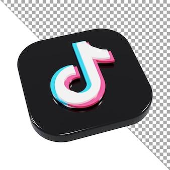 3d ikona logo tiktok minimalistyczny izometryczny