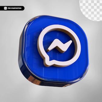 3d ikona messenger na białym tle