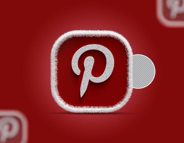 3d ikona pinterest mediów społecznościowych