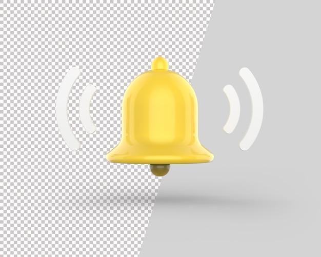3d ikona potrząsania dzwonkiem powiadomienia