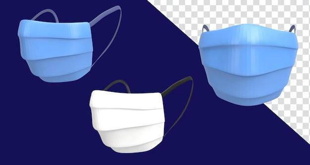 3d ikona render ilustracja maska medyczna