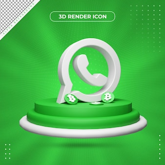 3d ikona renderowania whatsapp