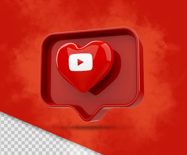 3d ikona renderowania youtube