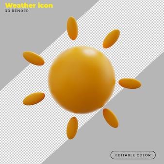 3d ikona słonecznej pogody