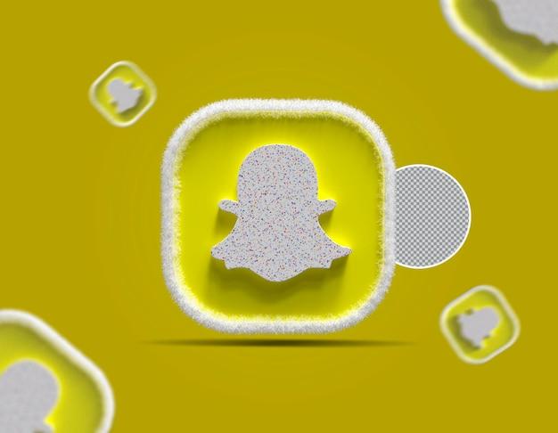 3d ikona snapchat w mediach społecznościowych