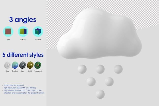 3d ikona śniegu