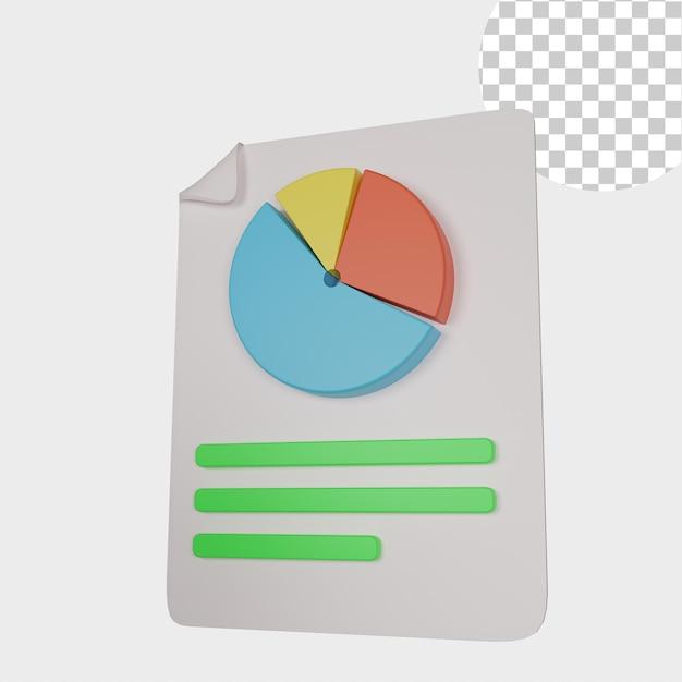 3d ikona statystyki ilustracji
