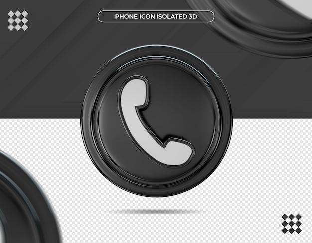 3d ikona telefonu na białym tle