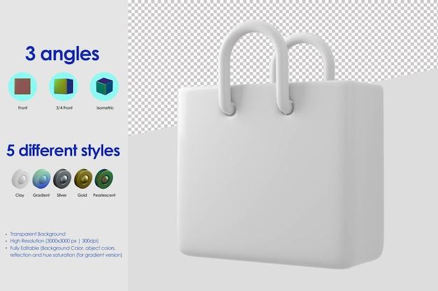 3d ikona torby na zakupy