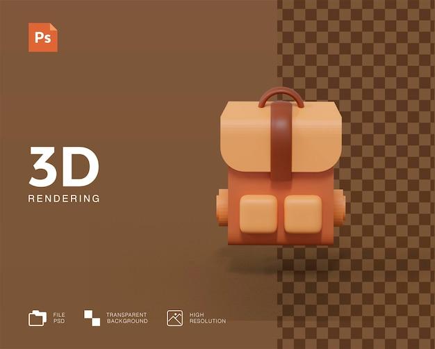 3d ikona torby podróżnej