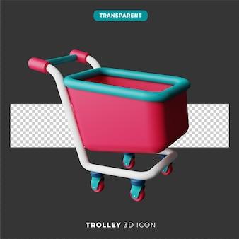 3d ikona wózka