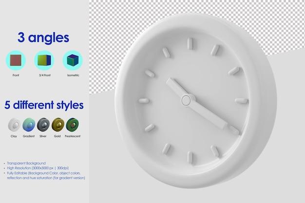 3d ikona zegara ściennego