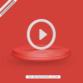 3d ikonę renderowania przycisku odtwórz