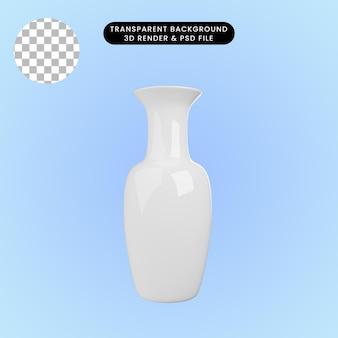 3d ilustracja ceramicznego wazonu