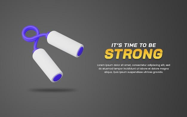 3d ilustracja chwytak ręczny. szablon projektu internetowego. przydatne do projektowania ilustracji sportowych.