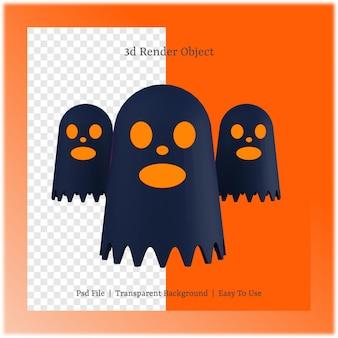 3d ilustracja ducha z koncepcją dnia halloween