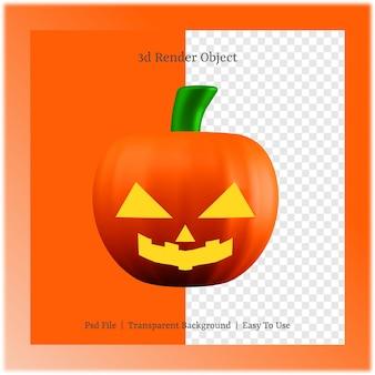 3d ilustracja dyni z koncepcją dnia halloween