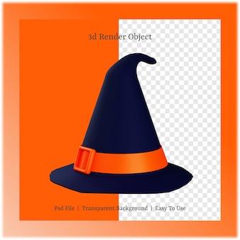 3d ilustracja kapelusza z koncepcją dnia halloween