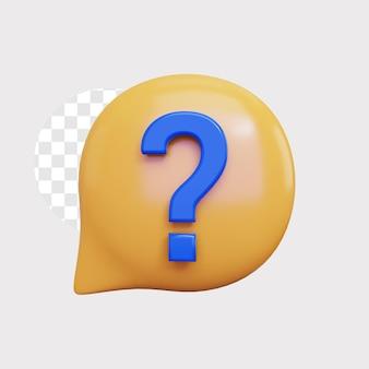3d ilustracja koncepcja ikona znaku zapytania