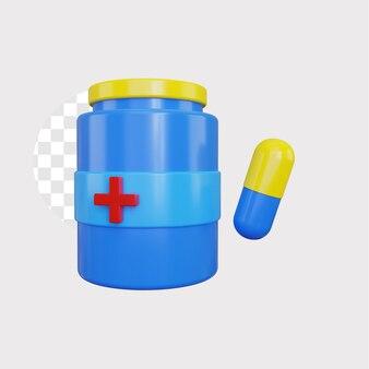 3d ilustracja koncepcja medycyny