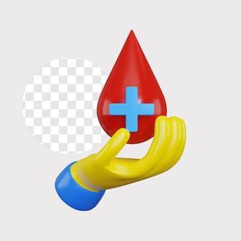3d ilustracja koncepcja oddawania krwi