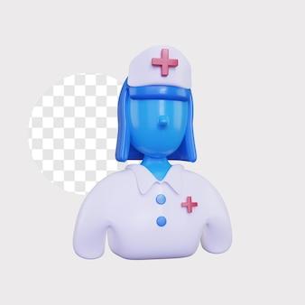 3d ilustracja koncepcja pielęgniarki