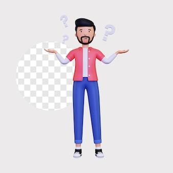 3d ilustracja koncepcja pytania