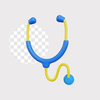3d ilustracja koncepcja stetoskopu