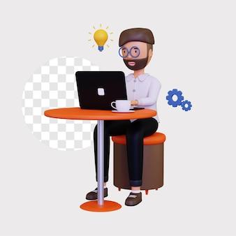3d ilustracja koncepcji pracy