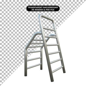 3d ilustracja konstrukcja drabiny obiektu