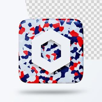 3d ilustracja logo symbolu kryptowalut