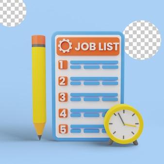 3d ilustracja priorytetu zadań na liście rzeczy do zrobienia