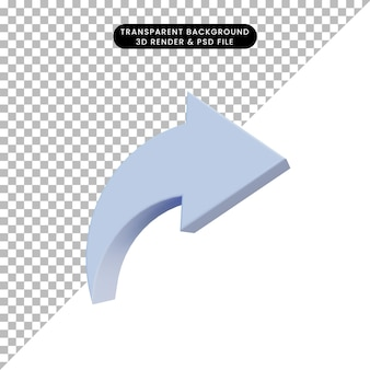 3d ilustracja prosta ikona akcji