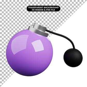 3d ilustracja prosta ikona piękno obiektu pompa perfum