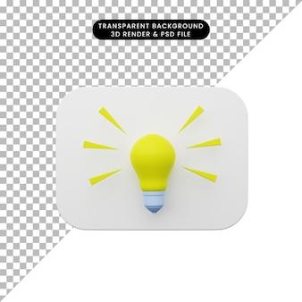 3d ilustracja prostego interfejsu użytkownika elementu interfejsu użytkownika