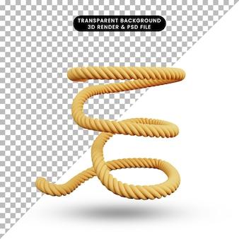 3d ilustracja prostej liny obiektu