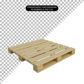 3d ilustracja prostej palety obiektów