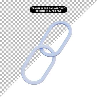 3d ilustracja prosty łańcuch ikon