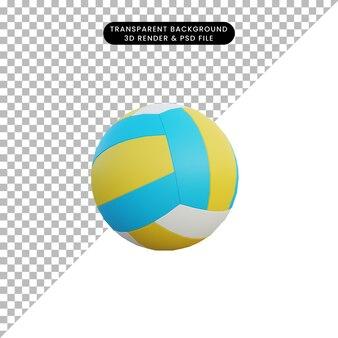 3d ilustracja prosty obiekt piłka do siatkówki