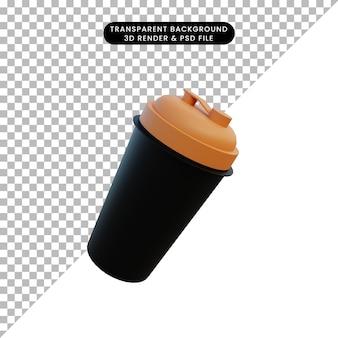 3d ilustracja shaker siłowni