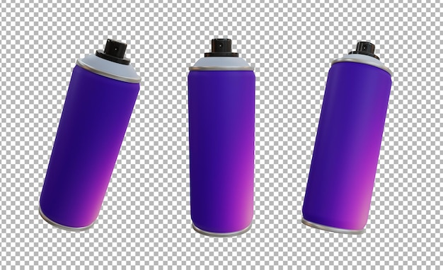 3d ilustracja sprayu do butelek
