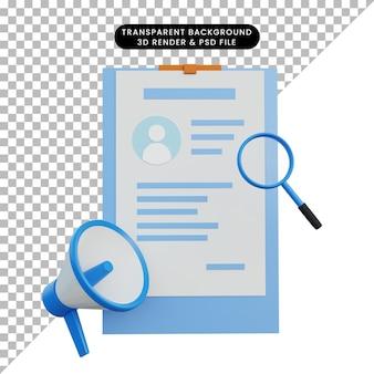 3d ilustracja szuka pracy