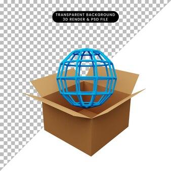 3d ilustracja tektury z globalnym internetem
