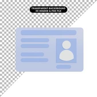 3d ilustracja znak nazwa tag
