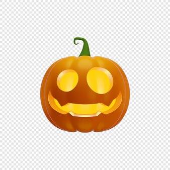 3d jacks dynia latarnia koncepcja halloween na białym tle ilustracja 3d