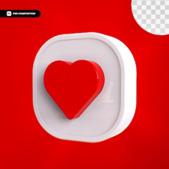 3d jak ikona instagram na białym tle